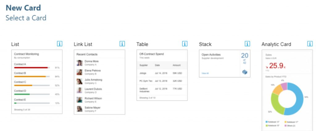 SAP Fiori 2.0 Overview Page - Annotationen